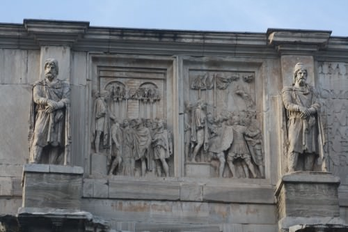 Detail, Arch of Constantine I