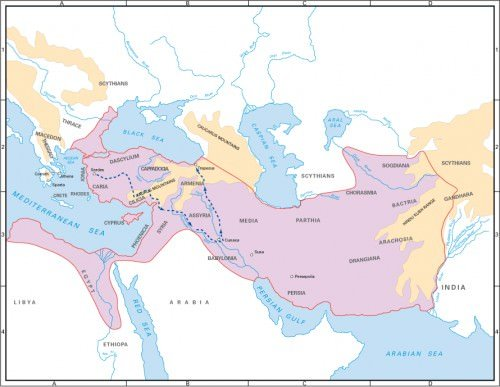 Map of Persia and the March of the Ten Thousand