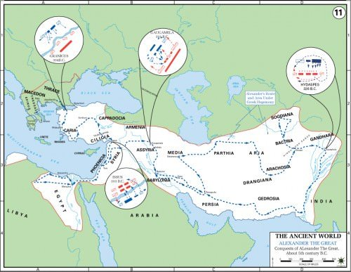 Map of Alexander the Great's Conquests