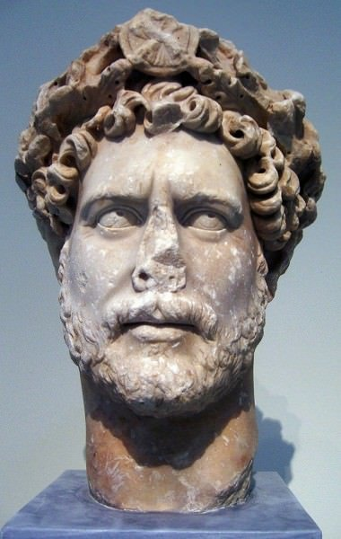 Portrait of Hadrian With Corona Civica