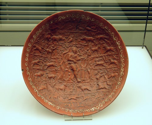 Dish with Orpheus among the animals