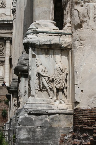 Detail, Arch of Septimius Severus, Rome (Illustration ...