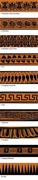 Motivos de cerámica griega