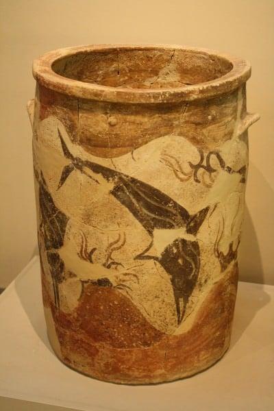 Dolphin decorado Pithoi, Akrotiri