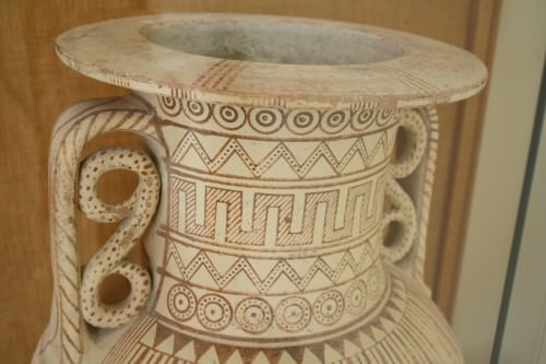 Geometric Pottery Designs Illustration Ancient History
