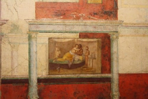 Roman Fresco, Villa de la Farnesina, Roma
