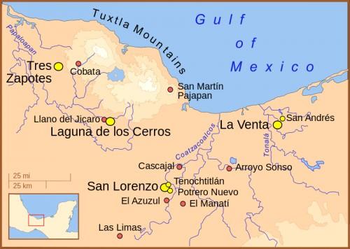 Principales Asentamientos Olmecas