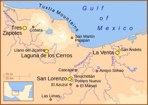 Principal Olmec Settlements