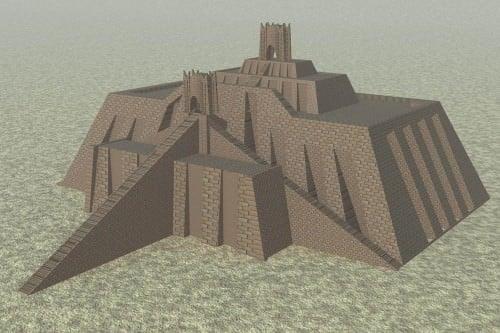 Reconstruction of the Ziggurat of Ur