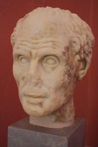 Busto de retrato romano