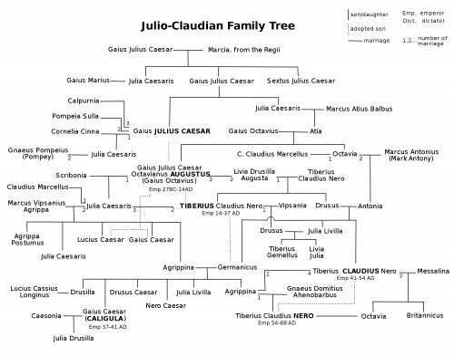 Julio-Claudian Family Tree
