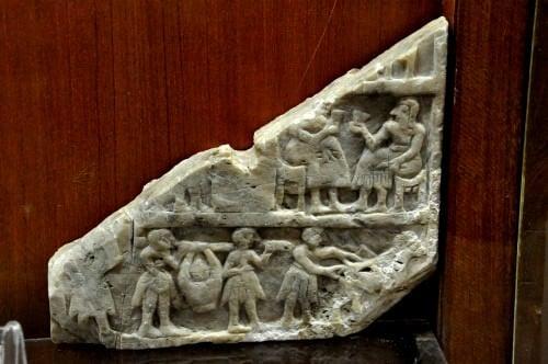 Placa votiva sumeria