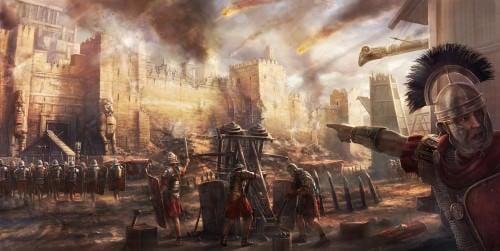 Ataque de Artillería Romana