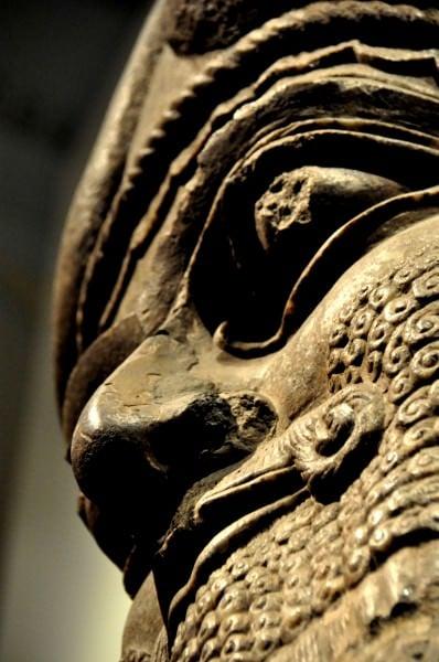 Cabeza de Lamassu del palacio Ashurnasirpal II