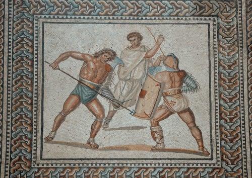 Roman Gladiator Mosaic