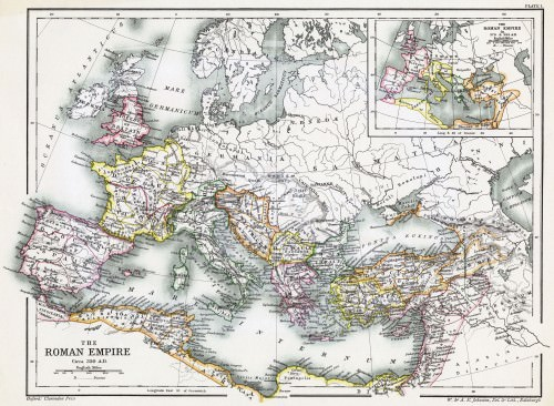 Map of the Roman Empire, 350 CE