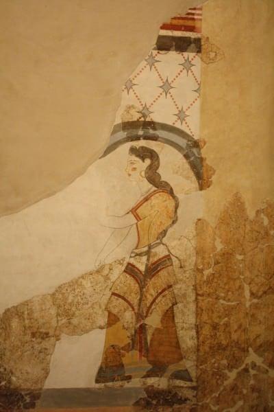 Fresco de la Casa de las Damas, Akrotiri