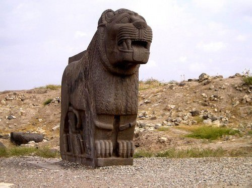 Estatua del león sirio