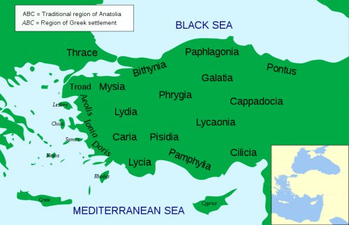 The Regions of Ancient Anatolia