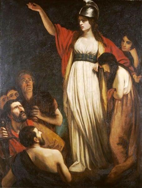 Boadicea Haranguing os bretões