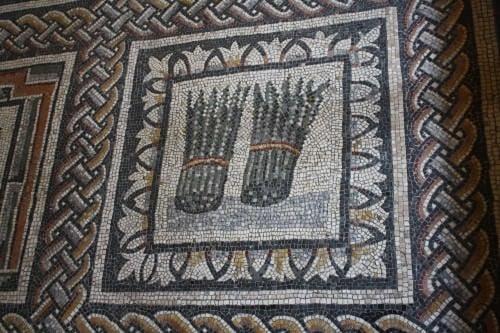 Espárrago, mosaico romano