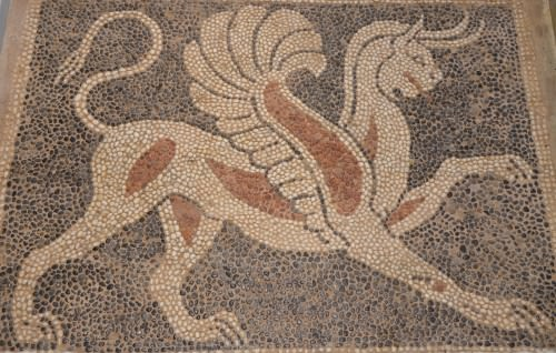Griffin Pebble Mosaic