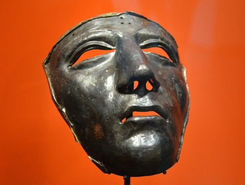 Kalkriese face mask for Roman cavalry helmet
