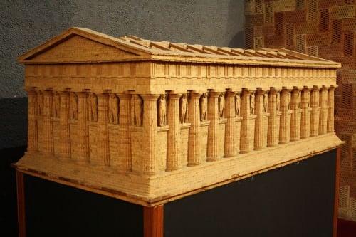 Modelo del Templo de Zeus, Agrigento