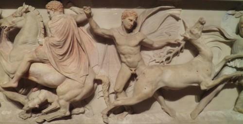 Sarcófago de Alejandro (detalle)