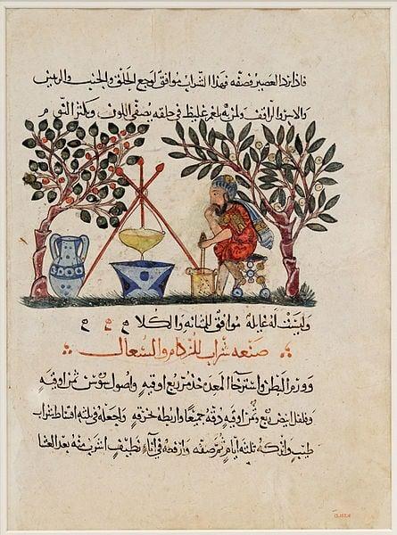 El antiguo farmacéutico de Mesopotamia prepara el elixir