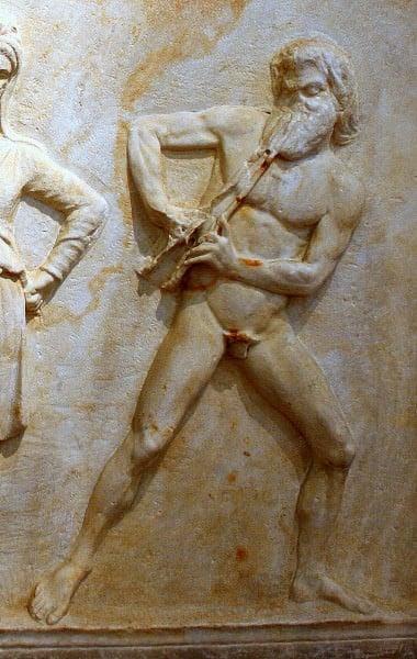 Marsia, particolare del NAM, Atene, 215.