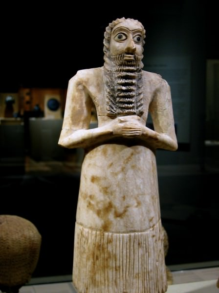 Figura votiva de Mesopotamian Male Worshipper