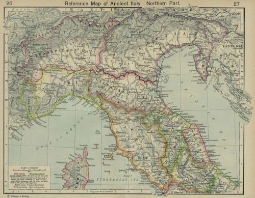 Map of Ancient Italy, Northern Part