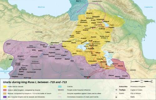 Urartu 714-715 aC