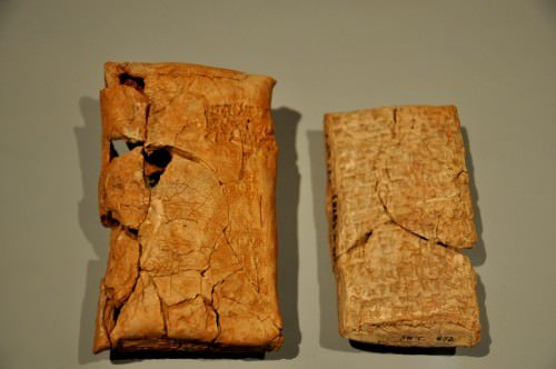 A Clay Tablet With Its Envelope Illustration Ancient
