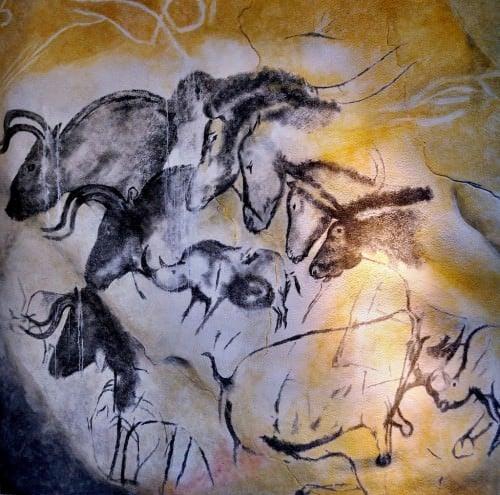 Pinturas rupestres en la cueva de Chauvet
