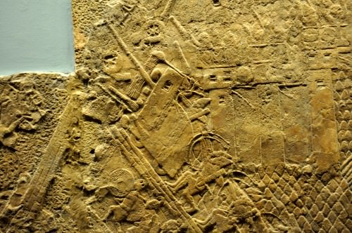 Assyrian Army Attack the City Wall of Lachish