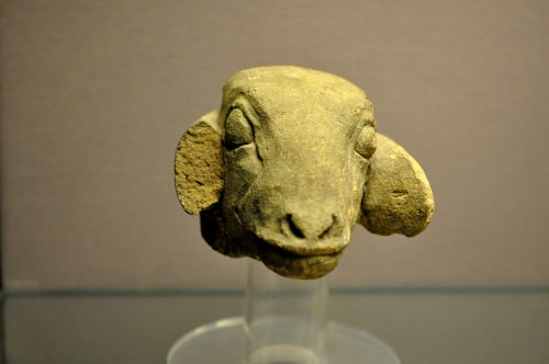 Head of Ewe Figurine