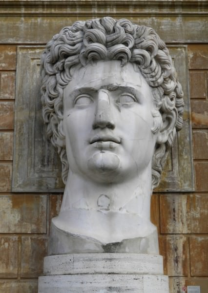 Colossal portrait of Augustus