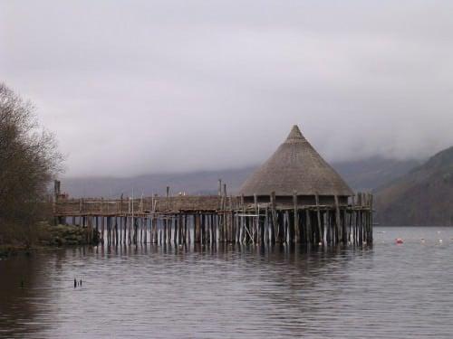 Crannog, loch, tay, escócia