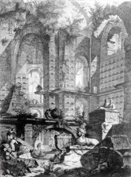 Giovanni Battista Piranesi: Grabado de un Columbario