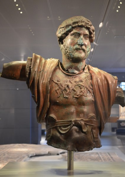 Bronze statue of Hadrian
