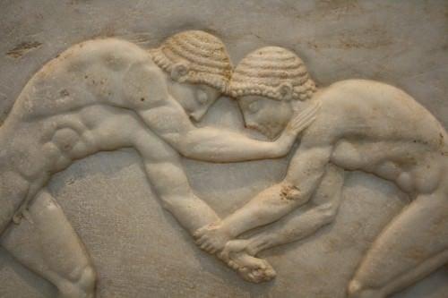 Luchadores griegos