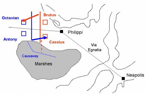 Primera batalla de Filipos 42 a.