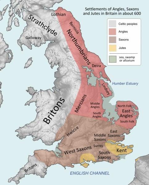 Britain, c. 600 CE
