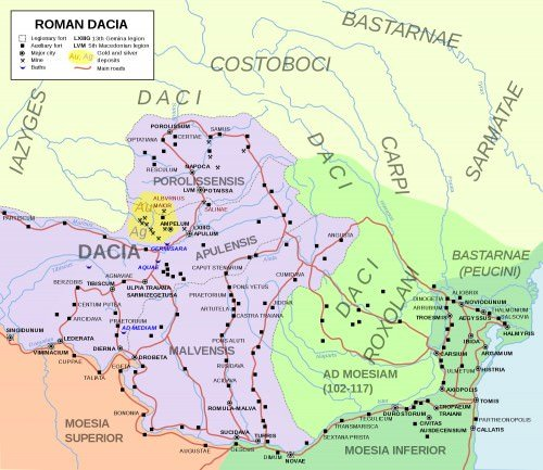 Map of Roman Dacia