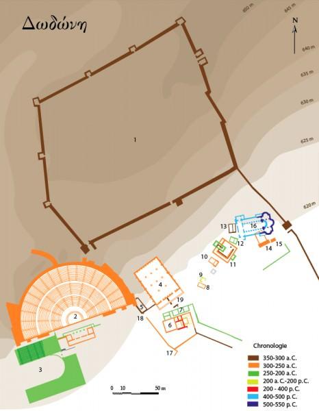 Plan de la antigua Dodona