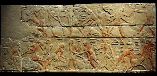 Escena de carnicería de ganado de Saqqara