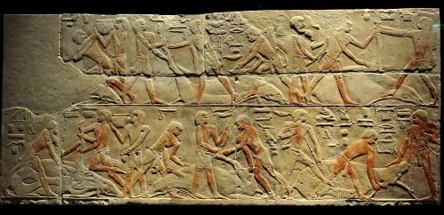 Cattle Butchering Scene from Saqqara