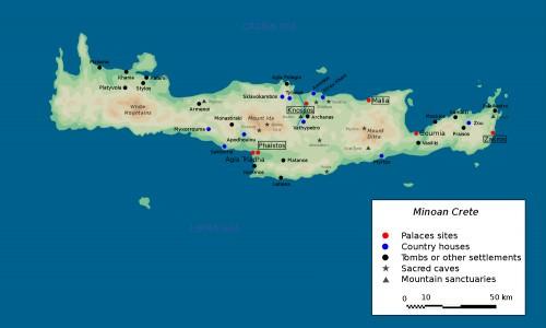 Mapa de Minoan Crete